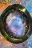 Färgrik abstrakt micrograph av korsörtblommadelar Arkivbild