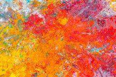 Färgrik abstrakt modell av olje- målarfärg Arkivfoton