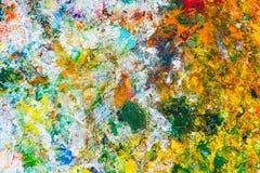 Färgrik abstrakt modell av olje- målarfärg Royaltyfri Fotografi