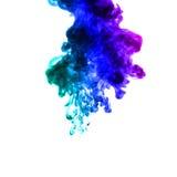 Färgrik abstrakt rök på vit bakgrund Fotografering för Bildbyråer