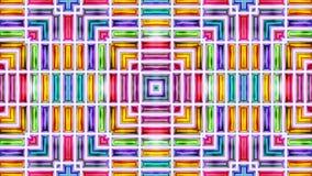 Färgrik abstrakt sömlös cirkulering för ögla för texturrörelsevideo sömlös vektor illustrationer