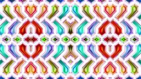 Färgrik abstrakt sömlös cirkulering för ögla för texturrörelsevideo sömlös stock illustrationer