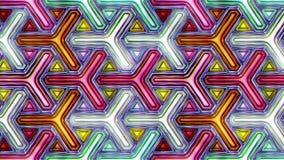 Färgrik abstrakt sömlös illustration för video för vertikal rörelse för textur 3D stock illustrationer