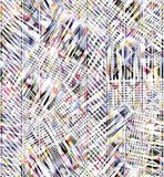 Färgrik abstrakt sömlös vattenfärg för bakgrund stock illustrationer