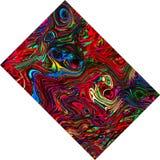 Färgrik abstrakt sammansättning för rektangel Fotografering för Bildbyråer