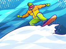 Färgrik abstrakt snowboarder Royaltyfri Illustrationer