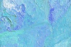 Färgrik abstrakt textur av olje- målning, blåtttextur, Brushst Arkivbild