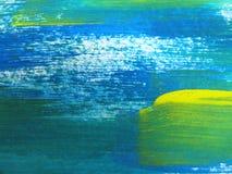 Färgrik abstrakt vattenfärg Arkivbilder