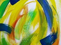 Färgrik abstrakt vattenfärg Fotografering för Bildbyråer