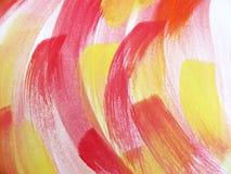 Färgrik abstrakt vattenfärg Arkivbild