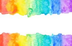 Färgrik abstrakt vattenfärgbakgrund Royaltyfria Bilder