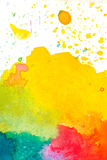 Färgrik abstrakt vattenfärgbakgrund Royaltyfri Bild