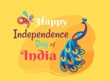 Färgrik affisch Indien för lycklig självständighetsdagen vektor illustrationer