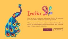 Färgrik affisch Indien för lycklig självständighetsdagen royaltyfri illustrationer