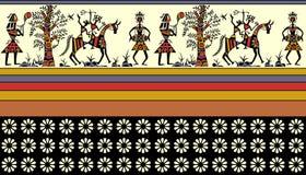 Färgrik afrikansk gräns stock illustrationer