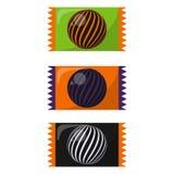 Färgrik allhelgonaaftongodis vektor illustrationer