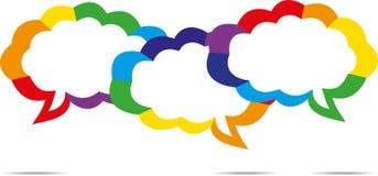 Färgrik anförandebubbla Arkivfoton