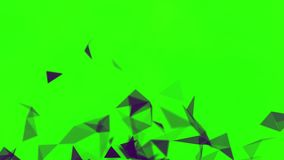 Färgrik animering med rörande trianglar, abstrakt målning för kristall materiel Litet svarta trianglar för blinka som blinkar på stock illustrationer