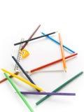 färgrik anteckningsbokblyertspenna Royaltyfria Bilder