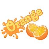 Färgrik apelsinfärgstänk för vektor Arkivbilder