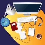 Färgrik arbetsplats Arkivbild