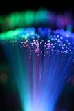 Färgrik bakgrund av optisk nätverkskabel för fiber Arkivfoton