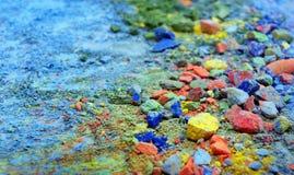 Färgrik bakgrund av pastellfärgat pulver färgrik abstrakt bakgrund Färger av regnbågen royaltyfri foto