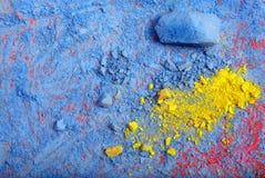 Färgrik bakgrund av pastellfärgat pulver färgrik abstrakt bakgrund Färger av regnbågen arkivfoton