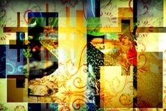Färgrik bakgrund för älva Arkivfoton