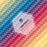 Färgrik bakgrund för abstrakt geometrisk sexhörningsmodell som är idérik royaltyfri illustrationer