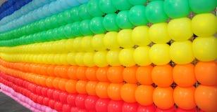 Färgrik bakgrund för ballong Arkivfoto