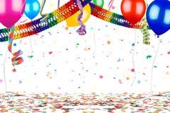 Färgrik bakgrund för beröm för partikarnevalfödelsedag