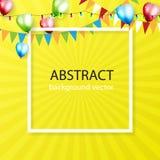 Färgrik bakgrund för beröm med ballonger Vektorillustrati Arkivbild