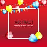 Färgrik bakgrund för beröm med ballonger Vektorillustrati Royaltyfri Foto