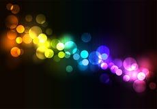 Färgrik bakgrund för disko Arkivbild