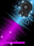 Färgrik bakgrund för musik Royaltyfri Illustrationer