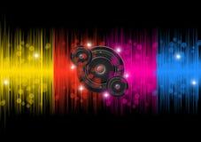 Färgrik bakgrund för musik Vektor Illustrationer