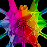 färgrik bakgrund för Fractal 3D Royaltyfri Bild