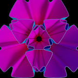 färgrik bakgrund för Fractal 3D Arkivfoton