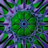 färgrik bakgrund för Fractal 3D Arkivfoto