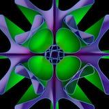 färgrik bakgrund för Fractal 3D Royaltyfria Bilder