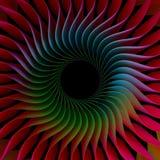 färgrik bakgrund för Fractal 3D Royaltyfri Fotografi
