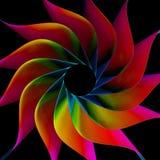 färgrik bakgrund för Fractal 3D Royaltyfri Foto