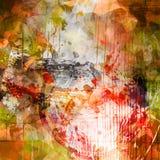 Färgrik bakgrund för Grunge Arkivfoton