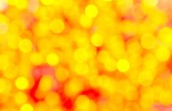 Färgrik bakgrund för gul bokeh Royaltyfria Foton
