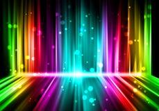 Färgrik bakgrund för lampor Royaltyfria Foton