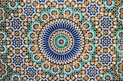 Färgrik bakgrund för marockansk tappningtegelplatta Royaltyfria Bilder