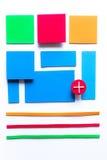 Färgrik bakgrund för materiell design Arkivfoto