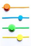 Färgrik bakgrund för materiell design Arkivbild