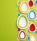 Färgrik bakgrund för påskäggabstrakt begrepp. Royaltyfria Foton